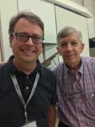 Dr. Worthy with 2014 NEA Jazz Master Jamey Aebersold