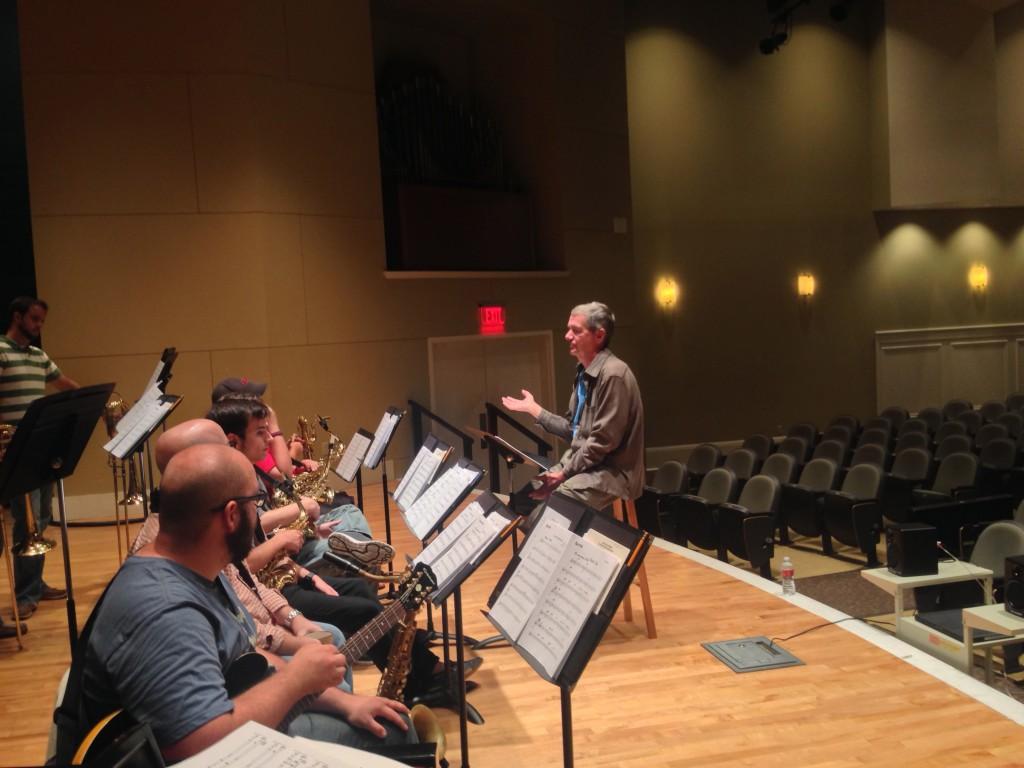 Legendary jazz arranger Mark Taylor rehearsing the Mississippians.